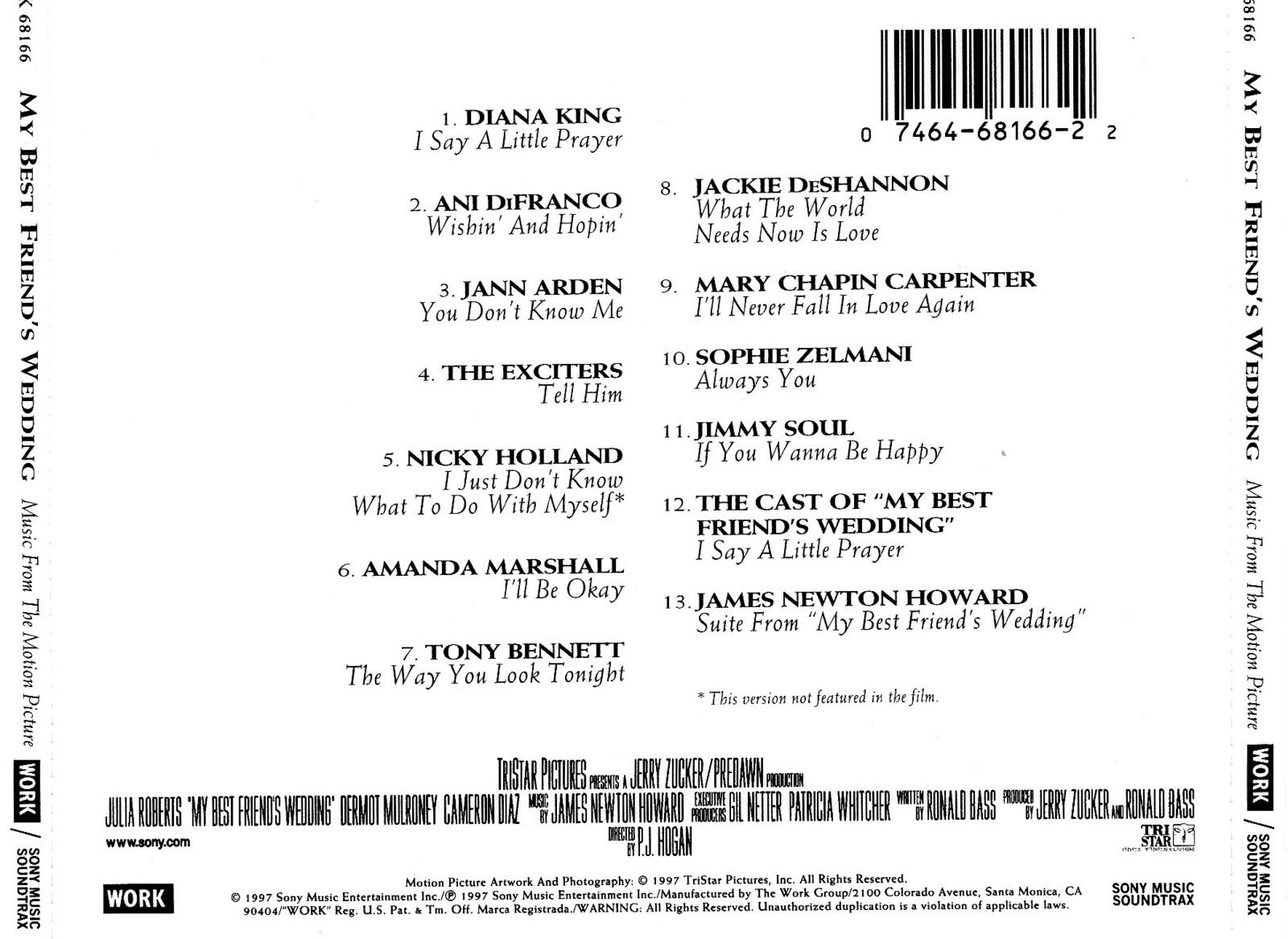 My Best Friend S Wedding Soundtrack.My Best Friend S Wedding O S T 1997年 いつもあなたと